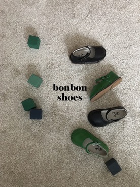 bonbon shoes (black,green)